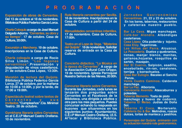 Programación Jornadas Cervantes